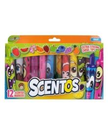 Набор ароматных маркеров Scentos Fruit Scented Markers, 12 шт.