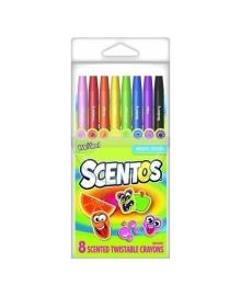 Набор ароматных карандашей Scentos Twistable Crayons, 8 шт.
