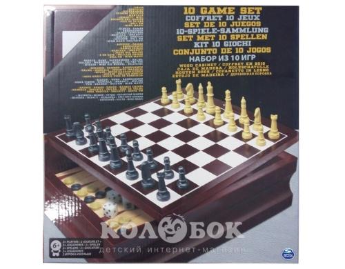 Набор в деревянной коробке Spin Master Games 10 классических игр