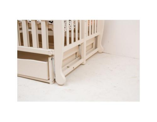 Ліжко DUO на шарнірах з підшипником з відкидною боковиною з шухлядами бук Біле (1B3-10-1,2,3)