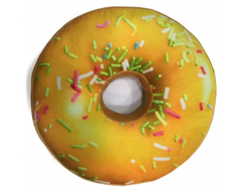 3D Подушка Пончик лимонный с посыпкой