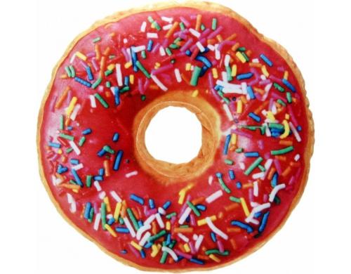 3D Подушка Пончик клубничный с посыпкой (p-30)