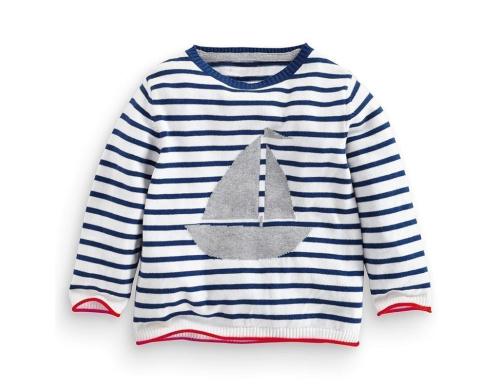 Детский свитер Little Maven Корабль Різнокольоровий (LMQ0019)