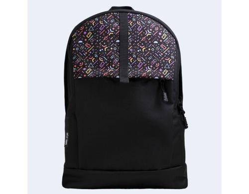 Черный рюкзак с цветными фигурами