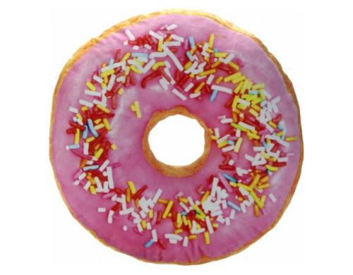 3D Подушка Пончик малиновый с посыпкой (p-34)