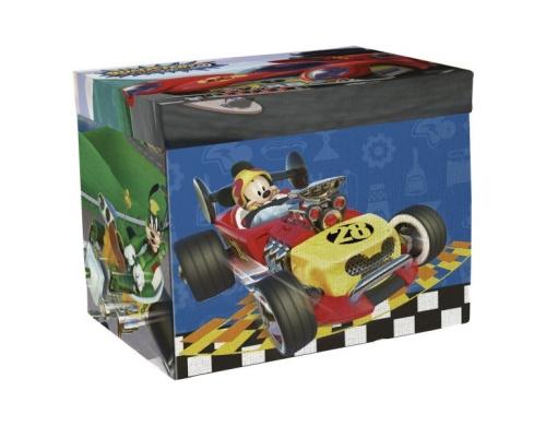 2 в 1. Коробка для игрушек+Игра Микки и веселые гонки Disney (Arditex), WD12110
