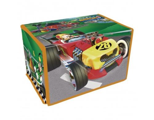 2 в 1. Коробка для игрушек+Игра Микки и веселые гонки Disney (Arditex), WD12113