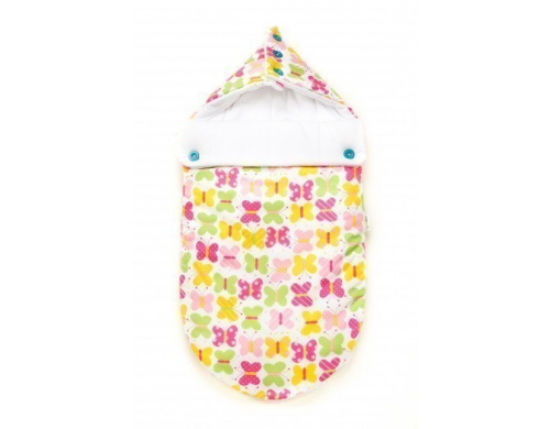Летний конверт для новорожденного Goforkid Добрые бабочки, белый с розовым (9801-202-014-1)