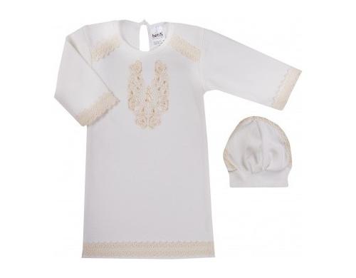 Набор для крещения BetiS Очарование, интерлок, р.56, молочный (27080736)