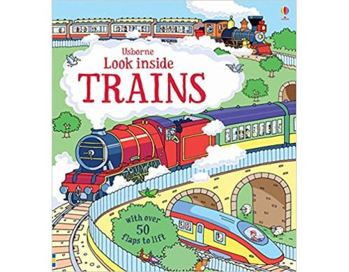 Детская книга с окошками  Look Inside Trains (9781409582083)