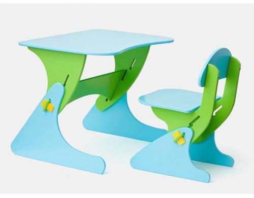 Детский стул и стол с регулируемой высотой SportBaby