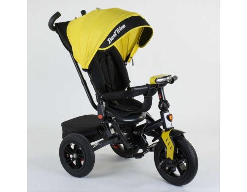 Детский велосипед Best Trike 3-х колёсный 9500 - 8225 НАДУВНЫЕ КОЛЕСА Жовтий