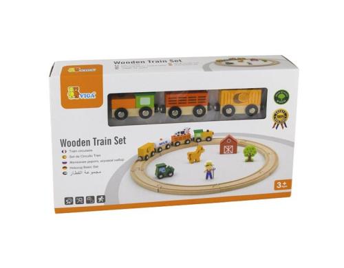 Игровой набор Viga Toys Железная дорога, 19 деталей (51615)